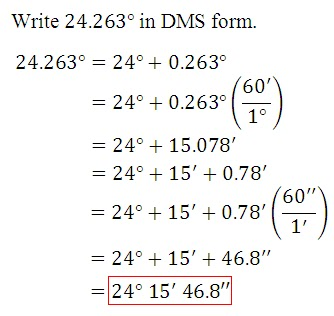 An Angle To Decimal Degrees Converter