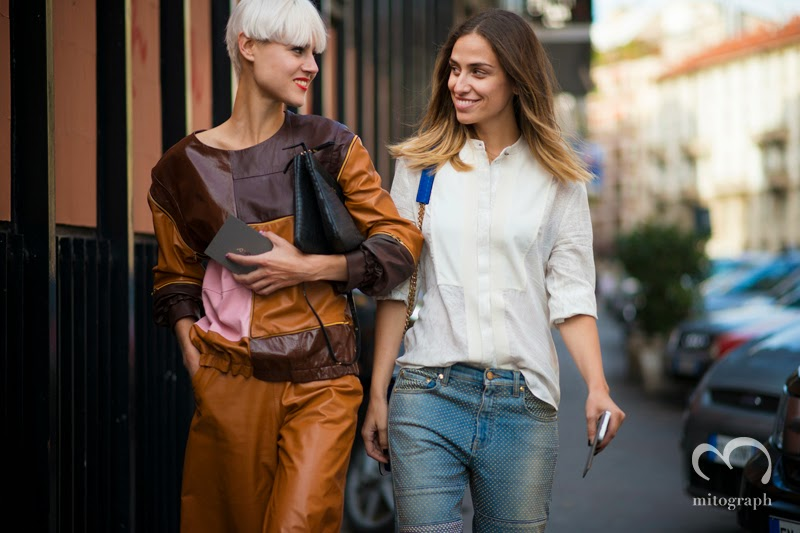 mitograph Linda Tol and Erika Boldrin Before JoNoFui Milan Fashion Week Spring Summer MFW Street Style Shimpei Mito