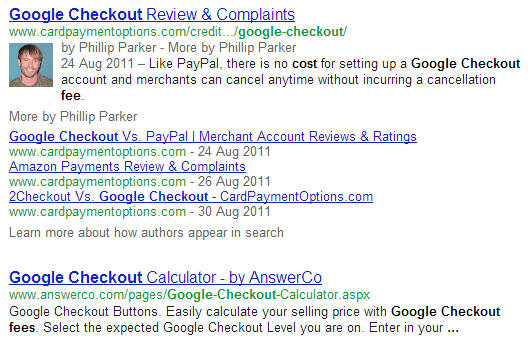 More Google Results From Same