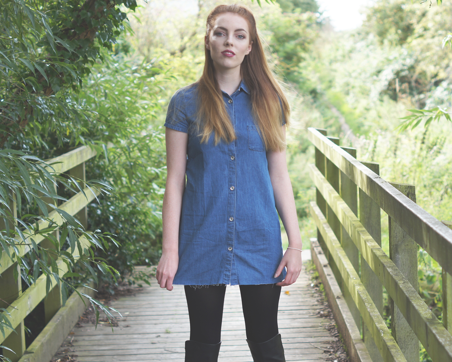 zara denim shirt dress