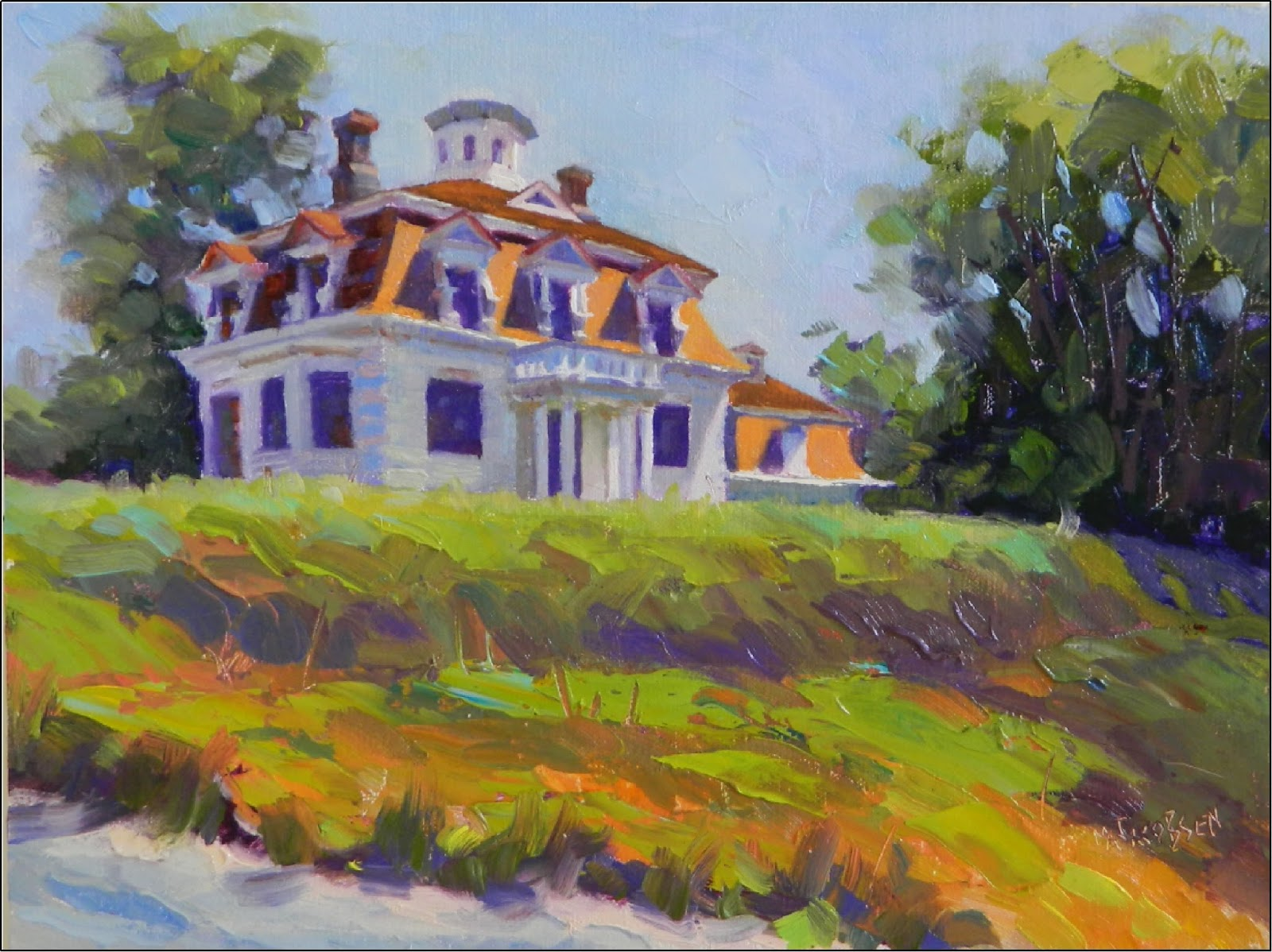 Paint dance the whaler 39 s house 11x14 after hopper for The addison house