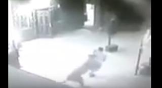 شاهد ردة فعل غريبة لرجل أثناء تعرض مجموعة من الأشخاص لهجوم من أسد !