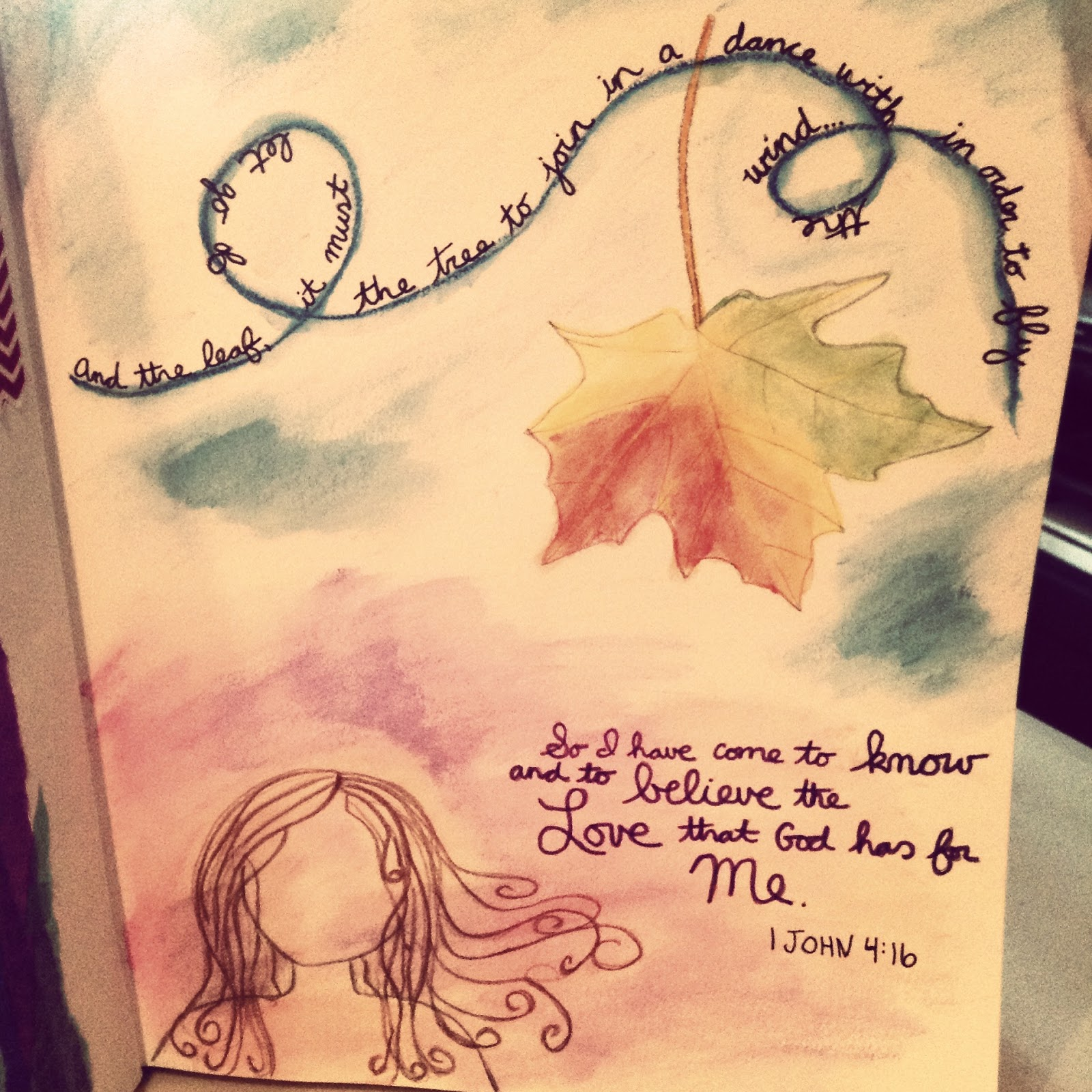 art journaling, finding hope, love