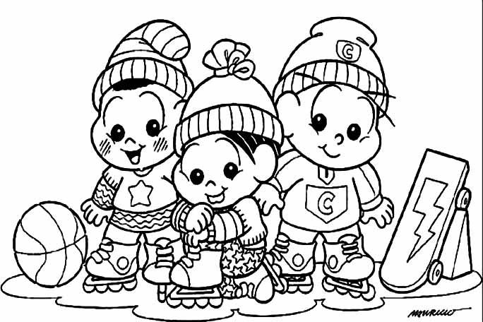 Desenhos Para Colorir Turma Da Monica kids