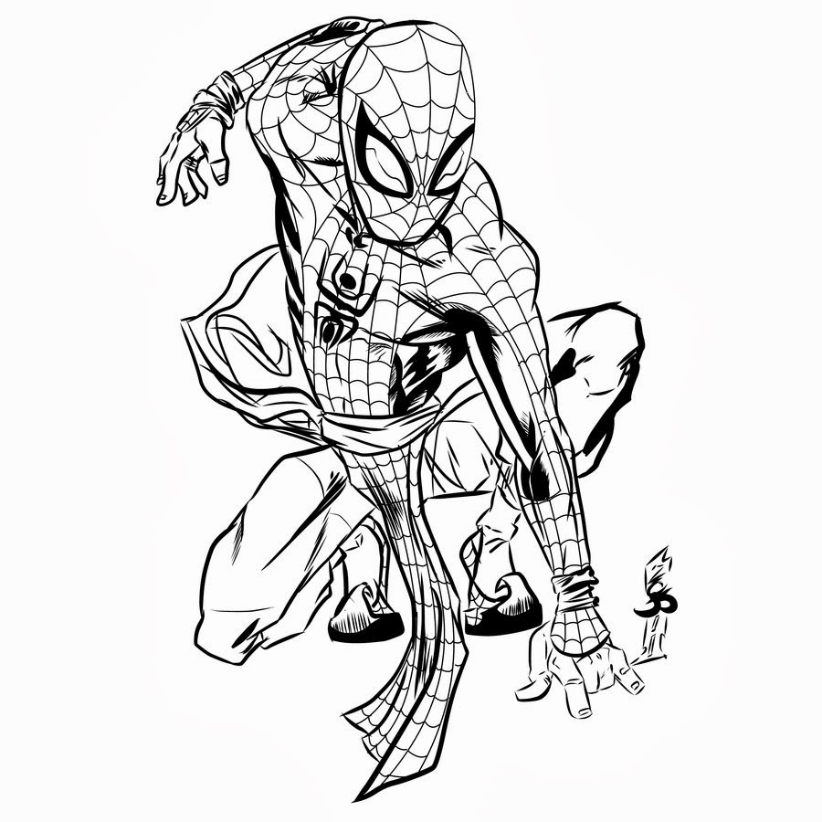 Disegni spiderman da colorare for Disegni spiderman da colorare