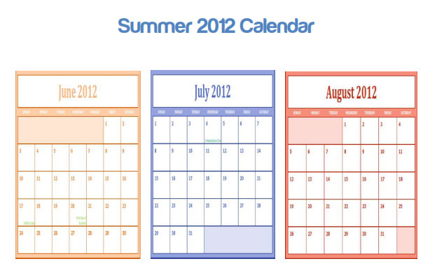 begins the three month of summer, regardless of what the calendar ...