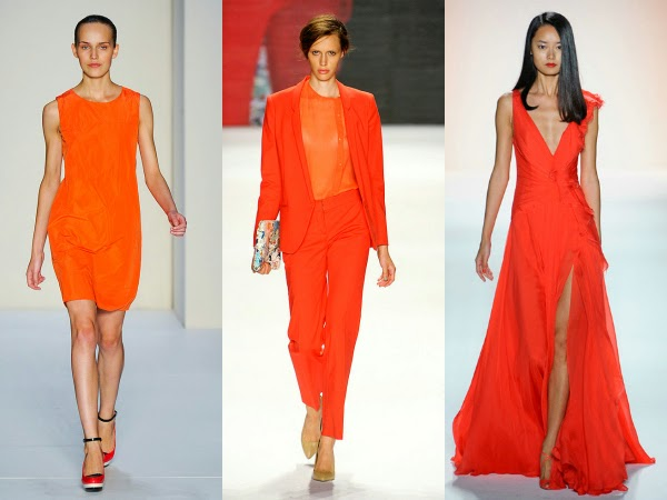 Moda color tangerine mandarina