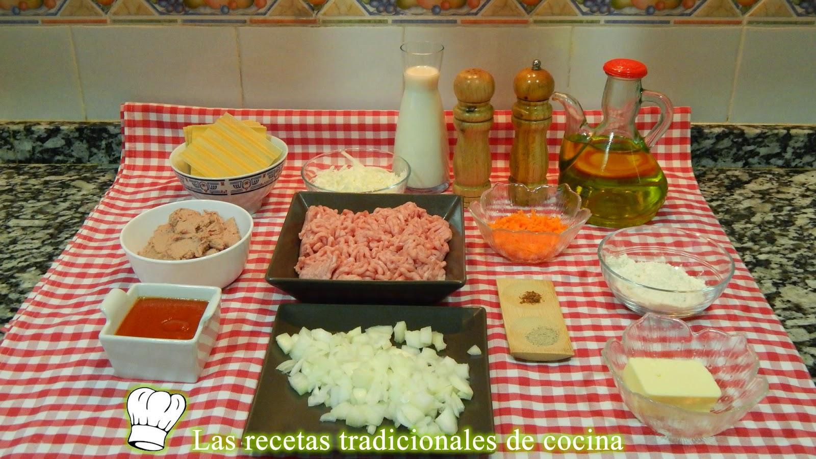 Receta de canelones de pollo y paté