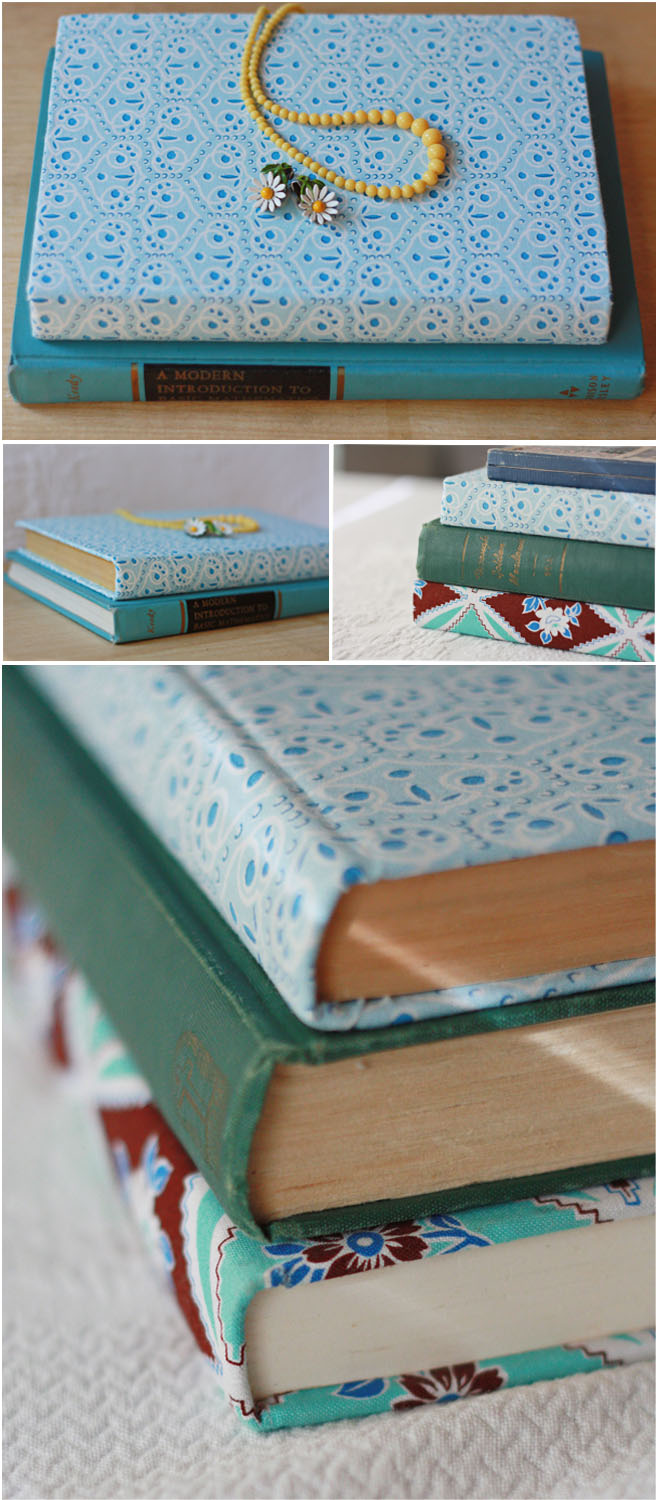 Instructions For Fabric Book Cover : Amy j delightful fabric covered book how to tutorial