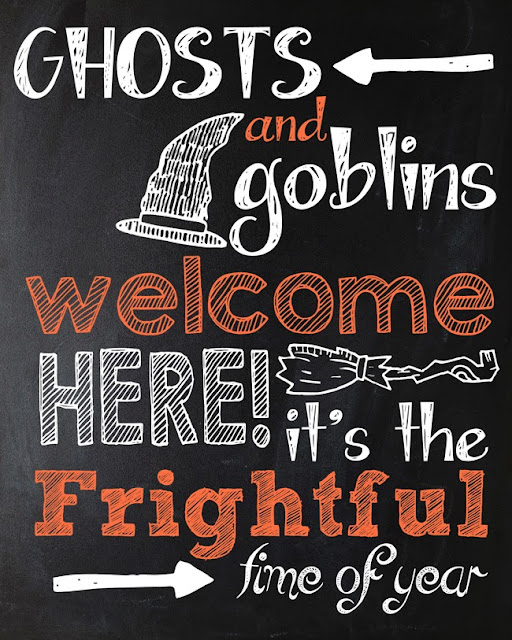 Free Halloween Chalkboard Printable | Instant Download