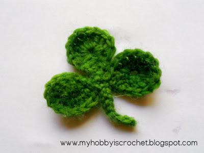 Crochet Clover leaf free pattern