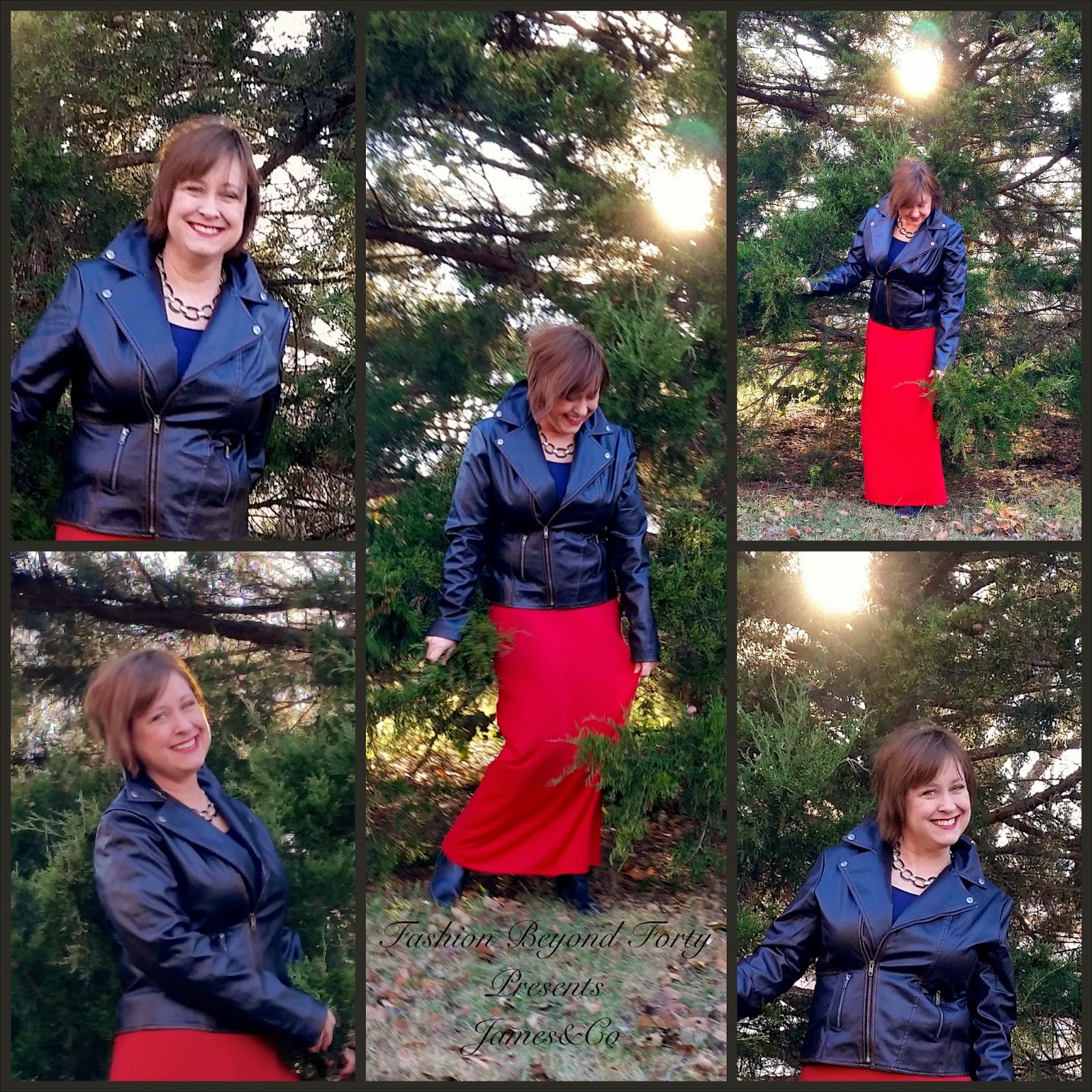 Fashion Beyond Forty James&Co Faux Leather Jacket Review