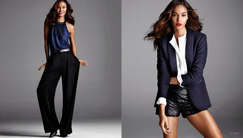 H&M 'Party Perfect' Style Guide Holiday 2014 featuring Joan Smalls