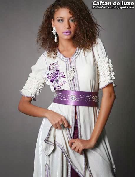 Caftan 2014 | Robe de soirée blanche - Caftan marocain haute ...