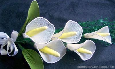 nylon stocking lilies