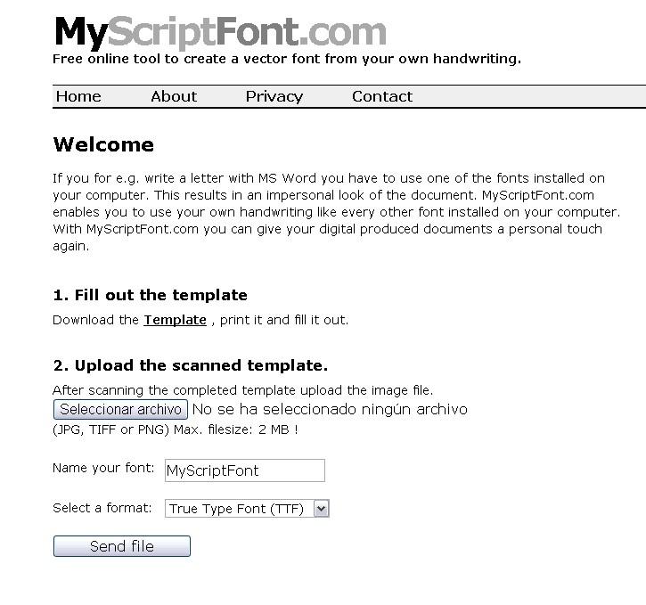 my script font