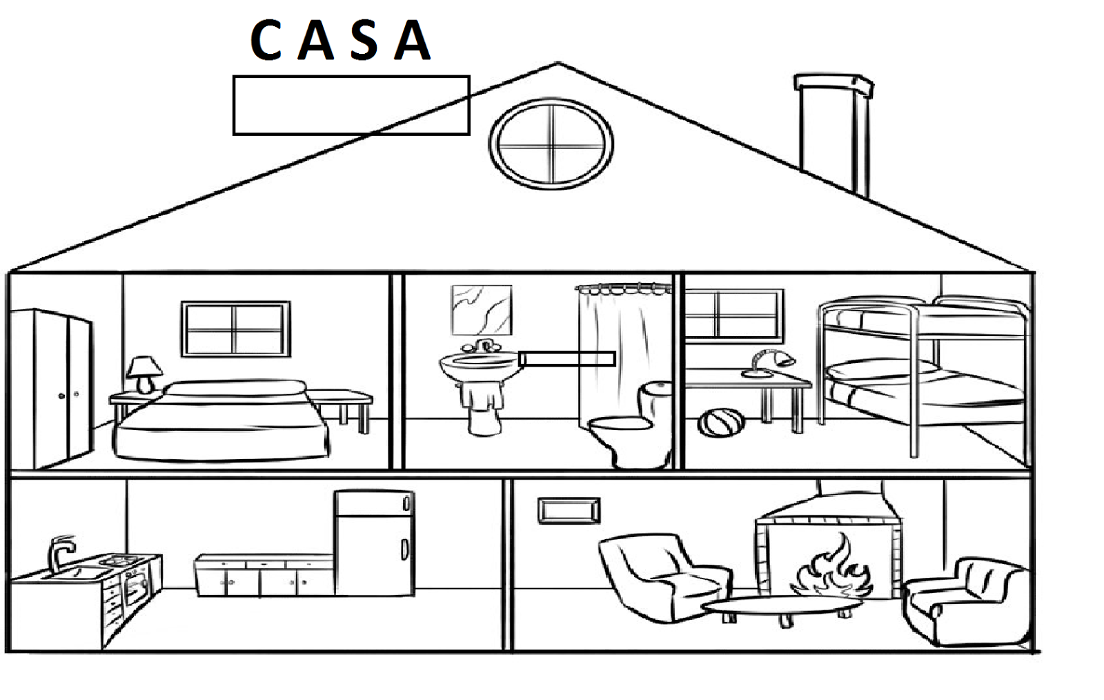 Dependencias de la casa para colorear - Imagui