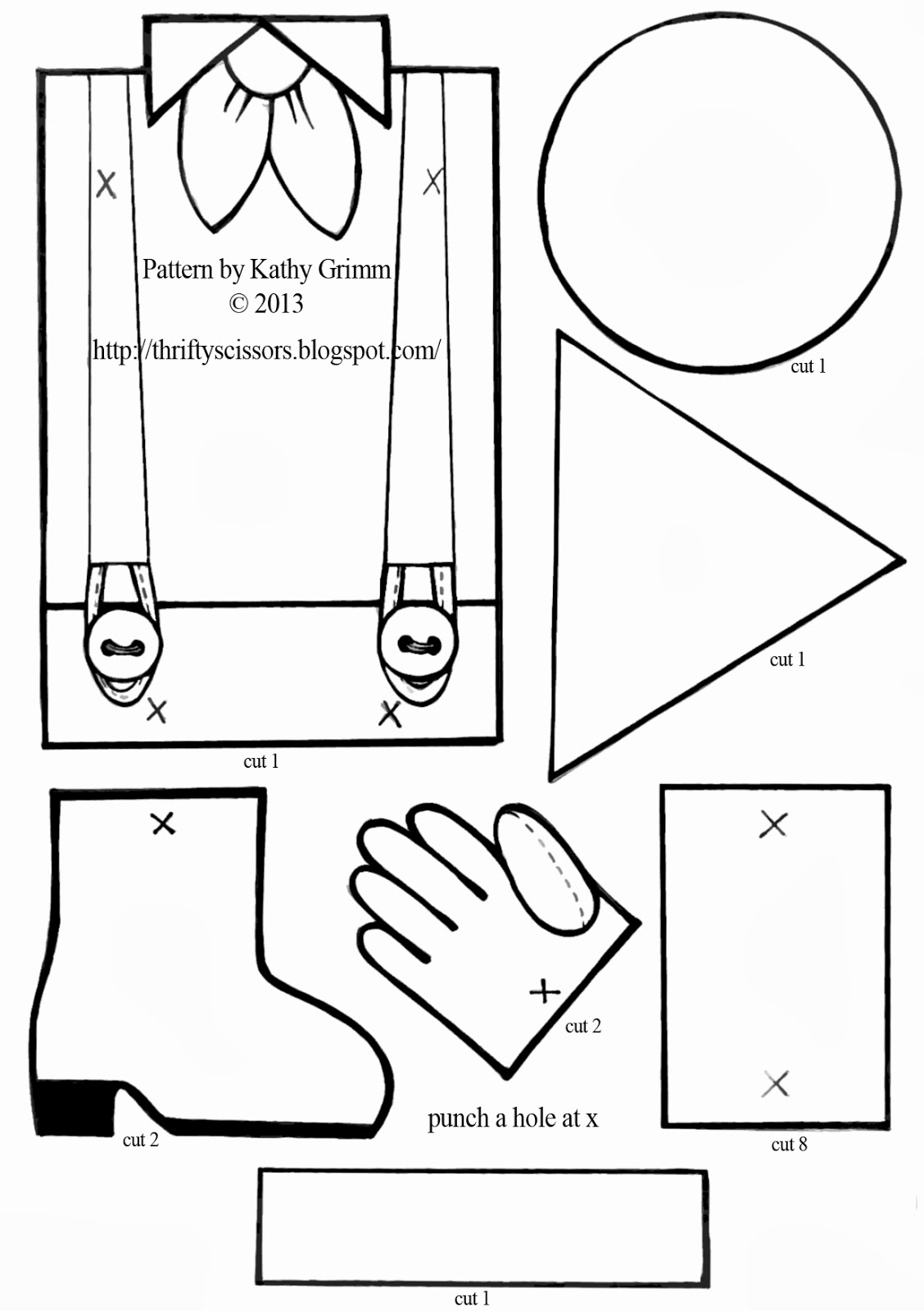 Scarecrow Clothes Template