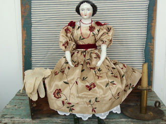 NEW - Artist made Porcelain Doll - Just like the early 1800's were made