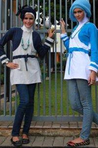 UKHTI Teens UT23 - Navy dan Turqis (Toko Jilbab dan Busana Muslimah Terbaru)