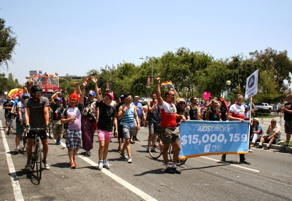 AIDS LifeCycle West Hollywood Pride Parade 2014