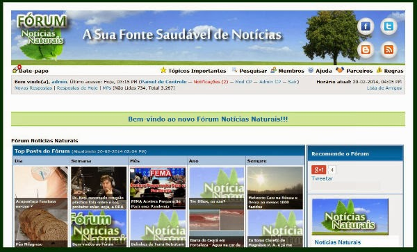 http://forum.noticiasnaturais.com/