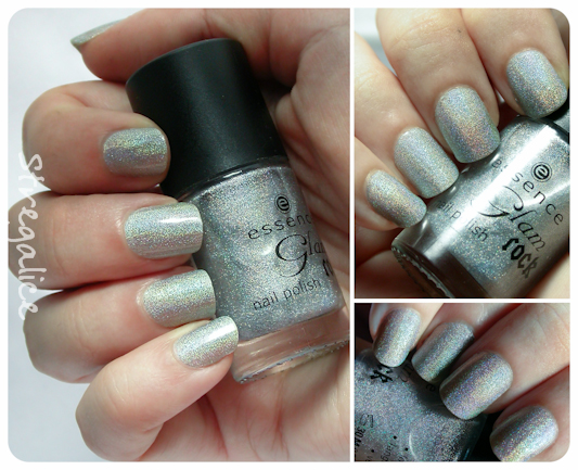 Essence Metal Babe holographic swatch silver