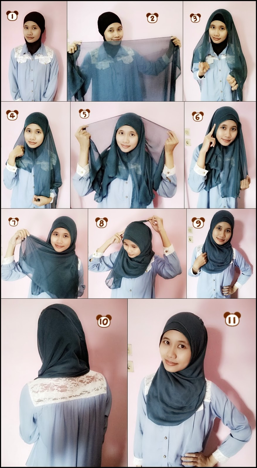 Pandora BagQue Tutorial Hijab Paris Simple Tosca