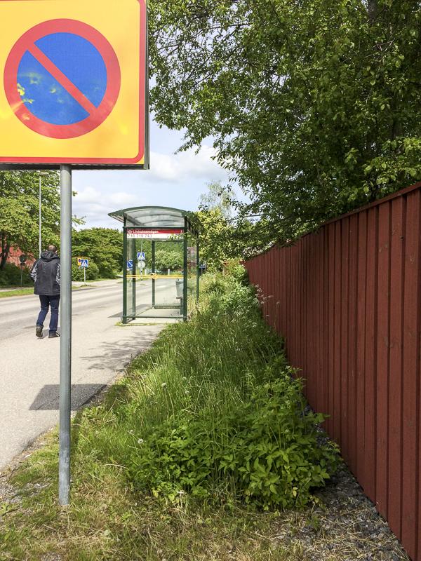 dike, storvretsvägen, busshållplats
