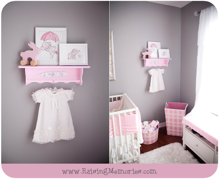 Baby Girl Nursery Decor Pink and Grey by www.RaisingMemories.com