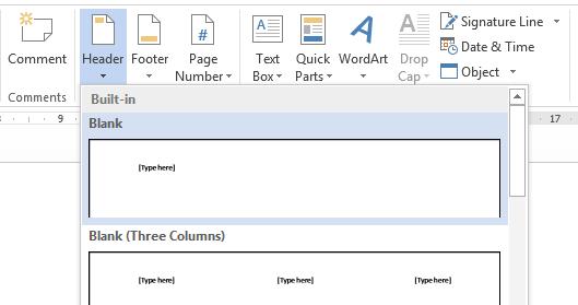 Penggunaan Header Dan Footer Pada Microsoft Word