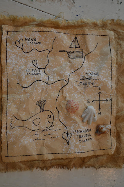 how to make a treasure map look old