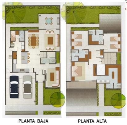 Casas en venta y departamentos casa muestra modelo onix for Planos de casas de 10 metros de frente