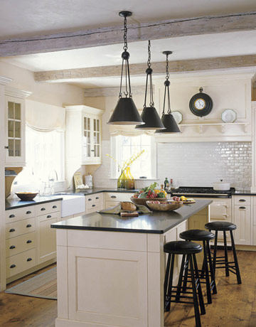 Whitehaven kitchens with beams for Black hardware on white kitchen cabinets