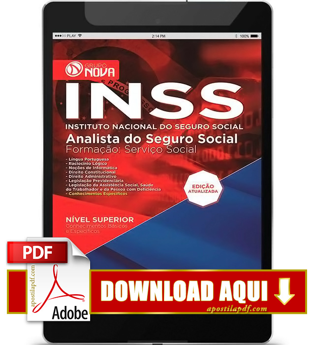 Apostila Analista INSS PDF Download 2016
