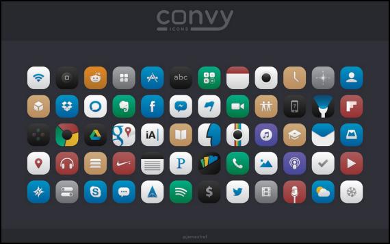 Convy Icons, un pack de 60 iconos gratuitos