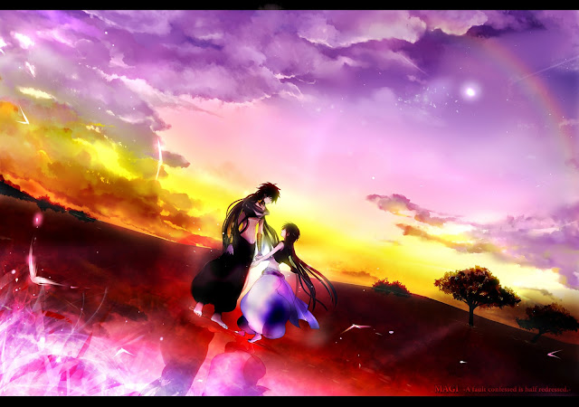 judal aladdin Magi the labyrinth of magic anime scenery clouds sky grass land male boy konochan  hd wallpaper desktop pc background a96