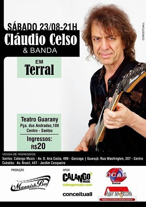 23-08-2014 - CLÁUDIO CELSO & BANDA - Santos - SP