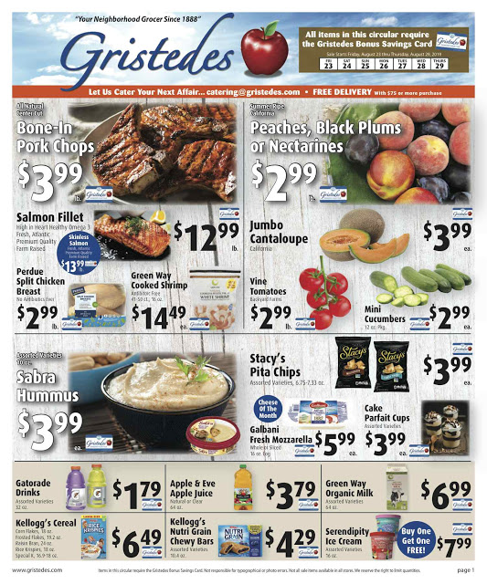 CHECK OUT ROOSEVELT ISLAND GRISTEDES Products, Sales & Specials For August 23 - August 29