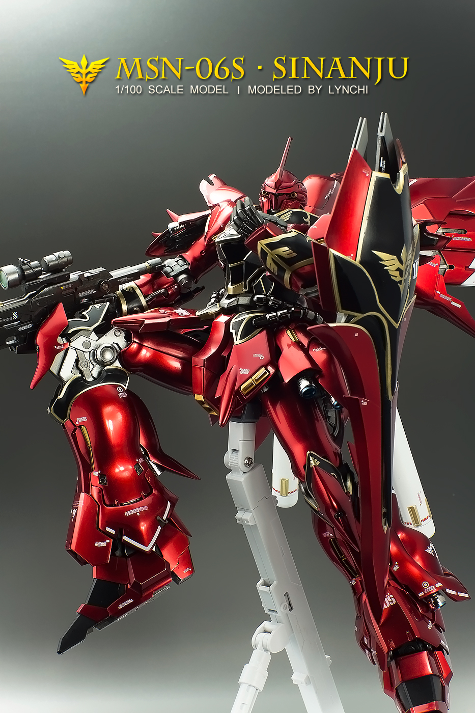 GUNDAM GUY: MG 1/100 MSN-06S Sinanju - Metallic Color ...