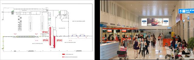 quảng cáo trong sân bay, quảng cáo sân bay nội bài, quảng cáo tại sân bay tân sơn nhất