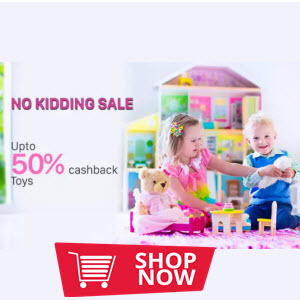 Buy Online  Toys & Games 100% cashback upto Rs. 150 on Select toys