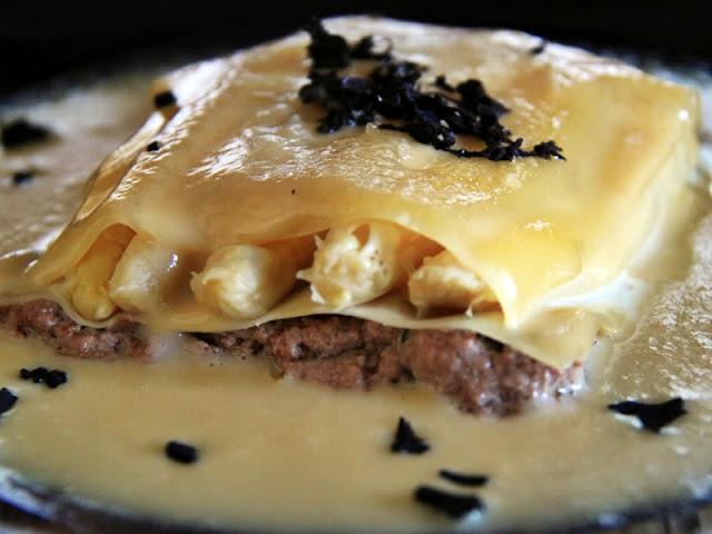 Lasagna con trufas