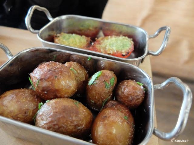 brunch pommes de terre et tomates farcies restaurant bar La Faille montorgueil paris