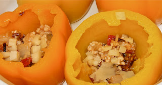 Turkey Stuffed Yellow Peppers