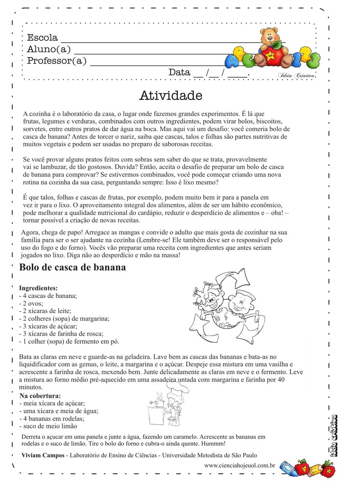 Sugestões de Atividades Educativas semana do meio ambiente Ideia ...