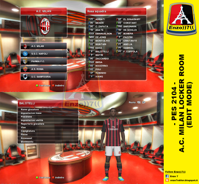 PES 2014 A.C. MILAN LOCKER ROOM