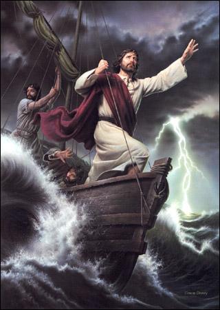 Jesús y la tempestad