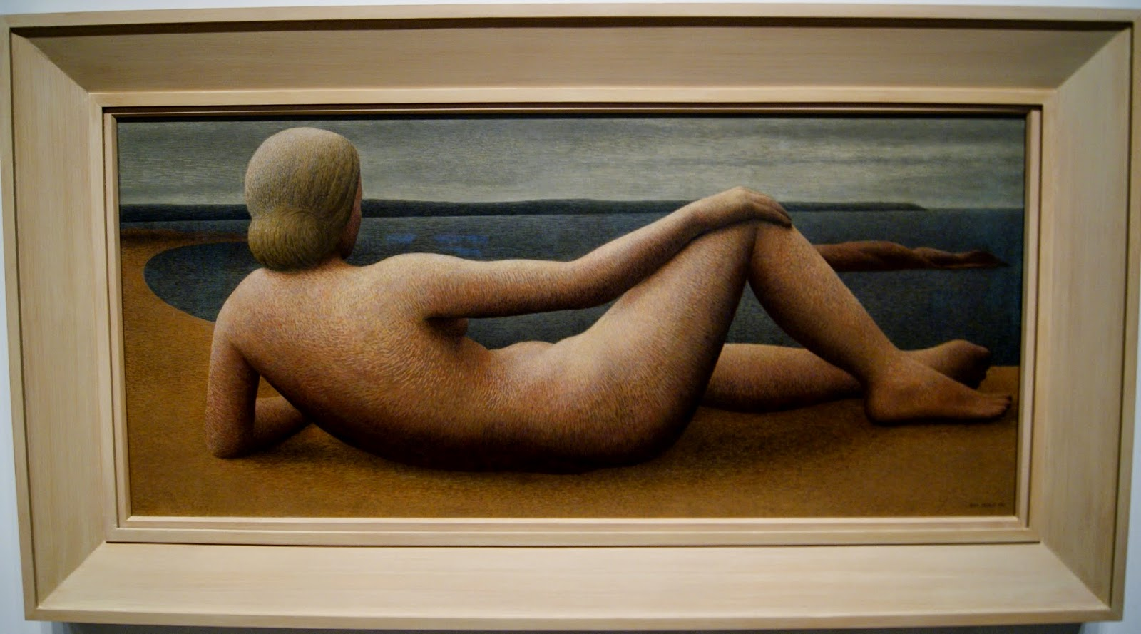 Alex Colville Exhibit at Art Gallery of Ontario in Toronto, Coastal Figure, 1951, paintings, art, artmatters, culture,ontario, Canadian Artist, Painter, Canada