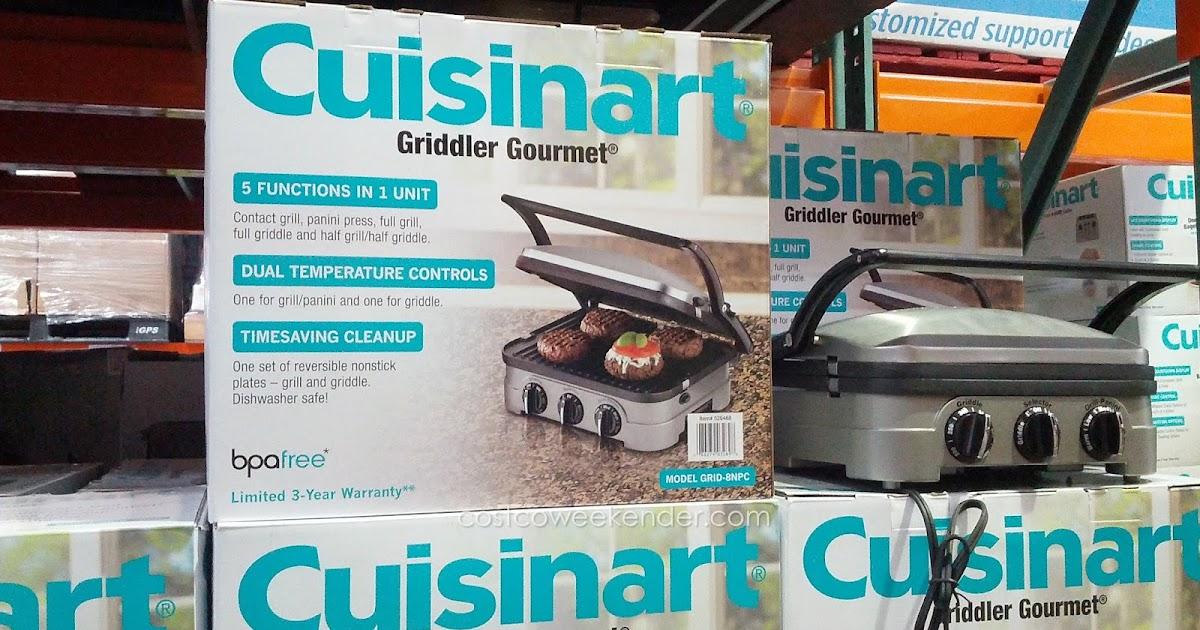 Cuisinart GRID 8NPC 5 In 1 Griddler Gourmet Costco Weekender
